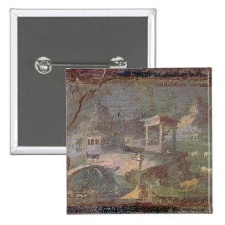 Idyllic Landscape from Herculaneum Pinback Button