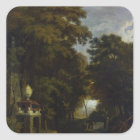 Idyllic Landscape Square Sticker
