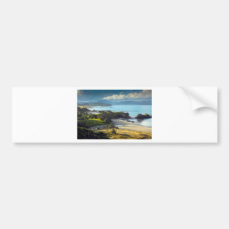 Idyllic New Zealand beach and coastline Bumper Sticker