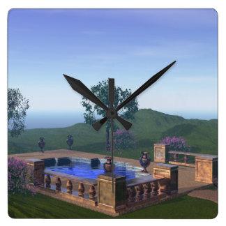 Idyllic Pool in Beautiful Scene at Spa Clocks