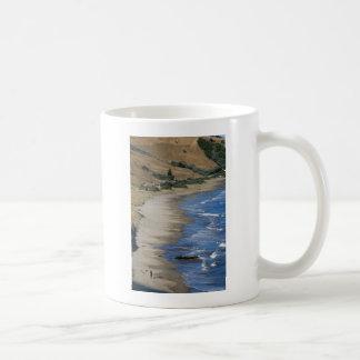 Idyllic white sand beach coffee mug