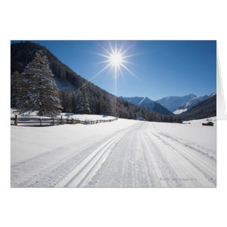idyllic winter landscapes in the berwanger tal, card