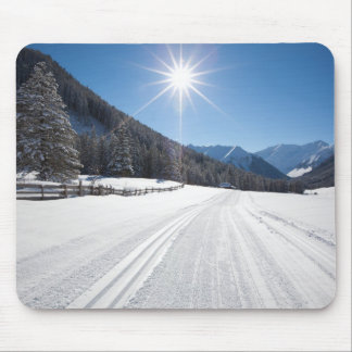 idyllic winter landscapes in the berwanger tal, mouse pad