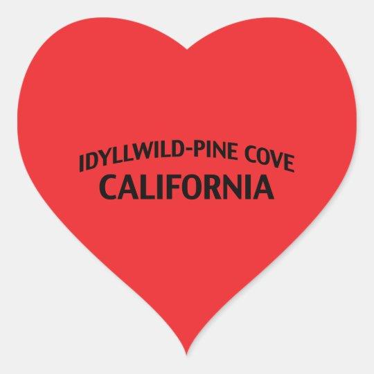 Idyllwild-Pine Cove California Heart Sticker