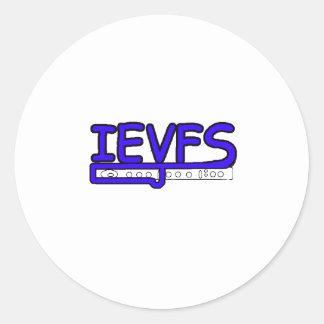 IEVFS Logo Round Stickers