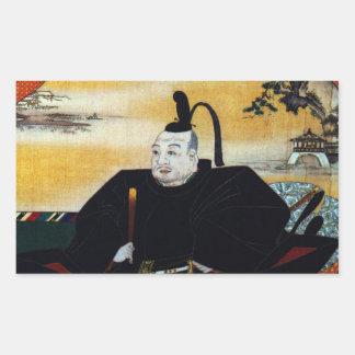 Ieyasu Tokugawa Rectangular Sticker