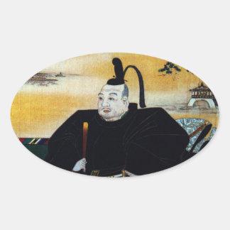 Ieyasu Tokugawa Oval Sticker