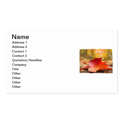 If a Leaf Falls in a Forest... Double-Sided Standard Business Cards (Pack Of 100)