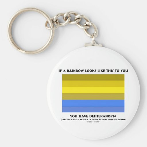 If A Rainbow Looks Likes This Have Deuteranopia Basic Round Button Keychain