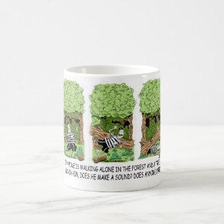 If a tree falls on a mime ... classic white coffee mug