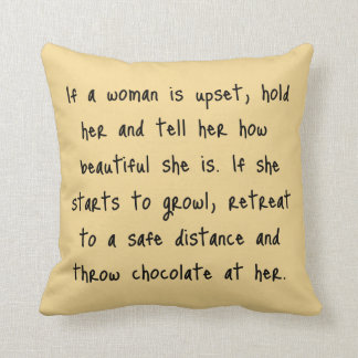 If A Woman Is Upset Throw Pillows