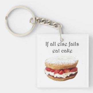 If All Else Fails Eat Cake Keychain