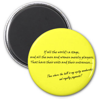 'If all the world's a stage...' 2 Inch Round Magnet