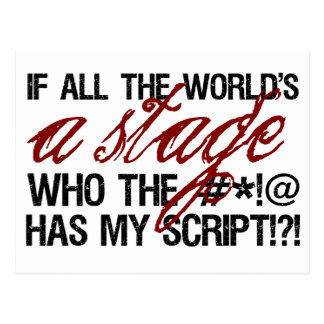 If all the world s a stage postcard