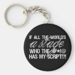 If all the world's a stage ... key chains