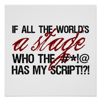 If all the world's a stage ... poster