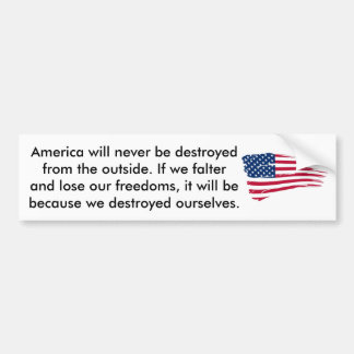If America Should Falter Bumper Sticker