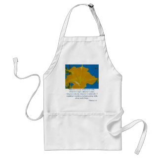 If Anything is Excellent or Praiseworthy Adult Apron