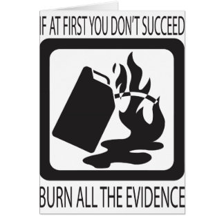 If at first you don't succeed card
