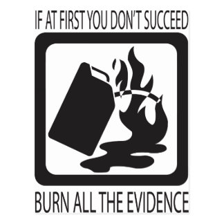 If at first you don't succeed postcard