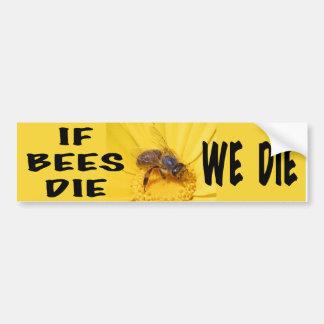 If Bees Die, We Die Bumper Sticker