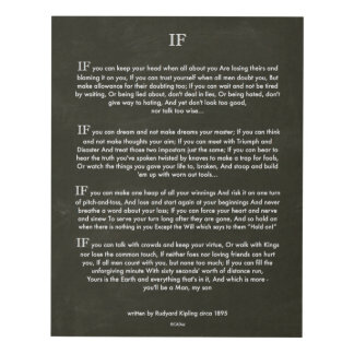 IF by Rudyard Kipling Chalk Art on Blackboard