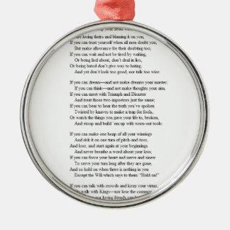 If_by_Rudyard_Kipling.JPG Metal Ornament