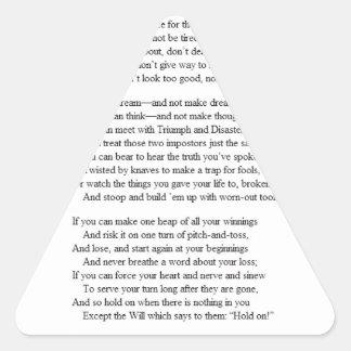 If_by_Rudyard_Kipling.JPG Pegatina Triangular