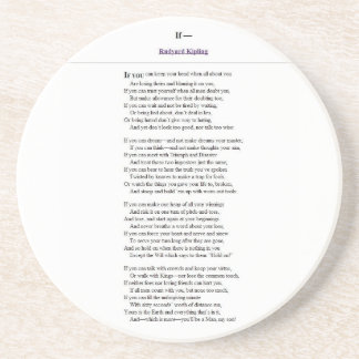 If_by_Rudyard_Kipling.JPG Sandstone Coaster