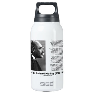 If- by Rudyard Kipling Motivational Advice Poem Insulated Water Bottle