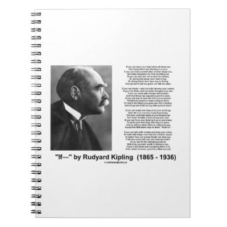 If- by Rudyard Kipling Motivational Advice Poem Notebook