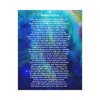 If by Rudyard Kipling on Orion Canvas Print