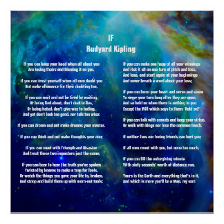 If by Rudyard Kipling on Orion Poster