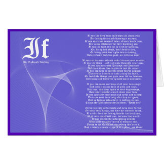 IF by Rudyard Kipling Purple Card