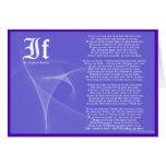 IF by Rudyard Kipling Purple Greeting Card