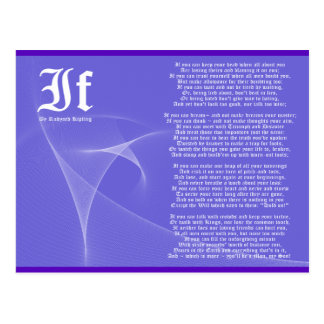 IF by Rudyard Kipling Purple Postcard