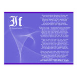 IF by Rudyard Kipling Purple Postcards