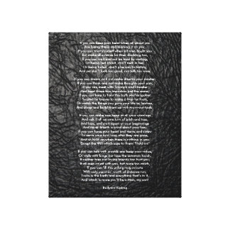 If by Rudyard Kipling small Canvas Print