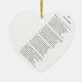If, by Rudyard Kipling - tilted text Ceramic Ornament