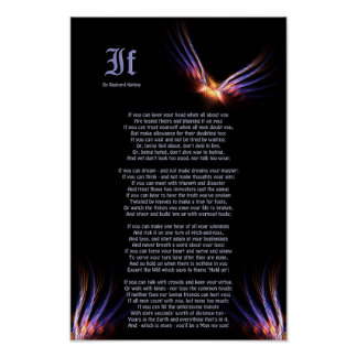 If by Rudyard Kipling with Phoenix Firebird Print
