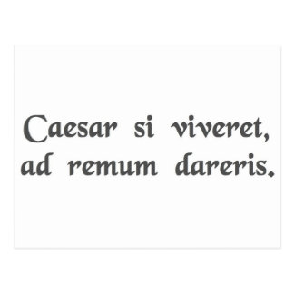 If Caesar were alive, you'd be chained to an oar Postcard