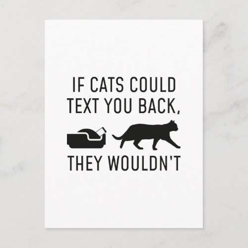 If Cats Could Text Postcard