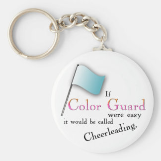 """""""If Color Guard were easy..."""" Basic Round Button Keychain"""