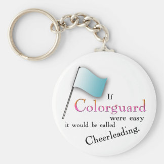 """""""If Colorguard were easy..."""" Basic Round Button Keychain"""