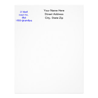 If Dad Says No (blue) Letterhead