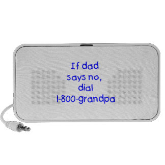 If Dad Says No (blue) Speaker