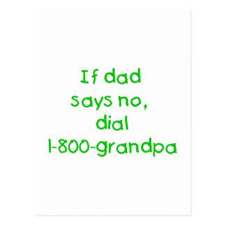 If Dad Says No (green) Postcard