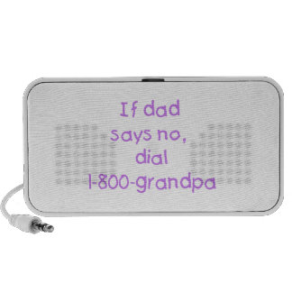 If Dad Says No (purple) Portable Speaker