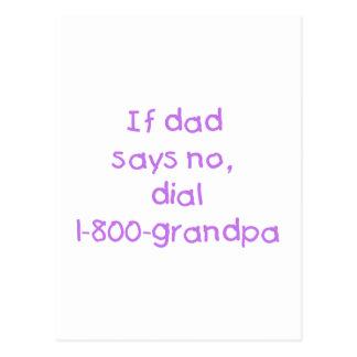 If Dad Says No (purple) Postcard