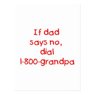 If Dad Says No (red) Postcard